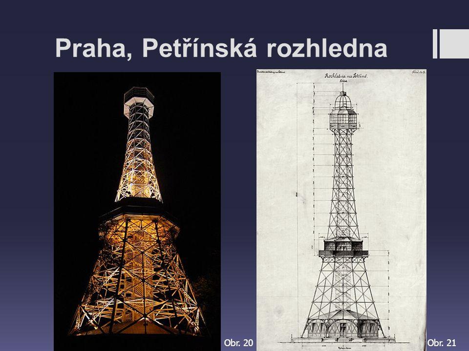 Praha, Petřínská rozhledna Obr. 20Obr. 21