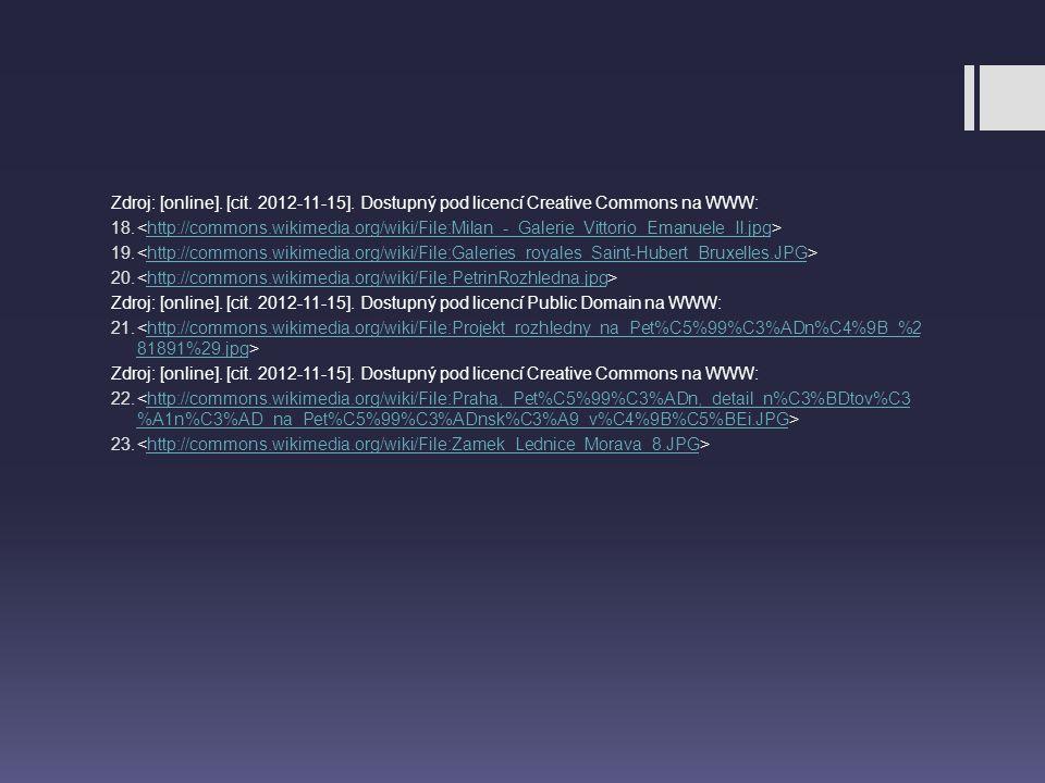 Zdroj: [online].[cit. 2012-11-15]. Dostupný pod licencí Creative Commons na WWW: 18.
