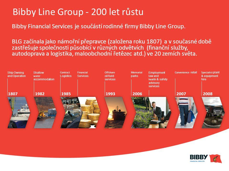 Bibby Line Group - 200 let růstu Bibby Financial Services je součástí rodinné firmy Bibby Line Group.