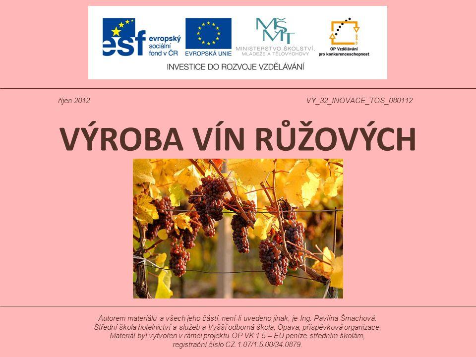Scelování vín Ke zlepšení jakosti konečného výrobku se provádí scelování, tj.