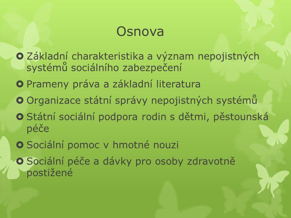 Životní a existenční minimum, z.č. 110/2006 Sb., v platném znění n.
