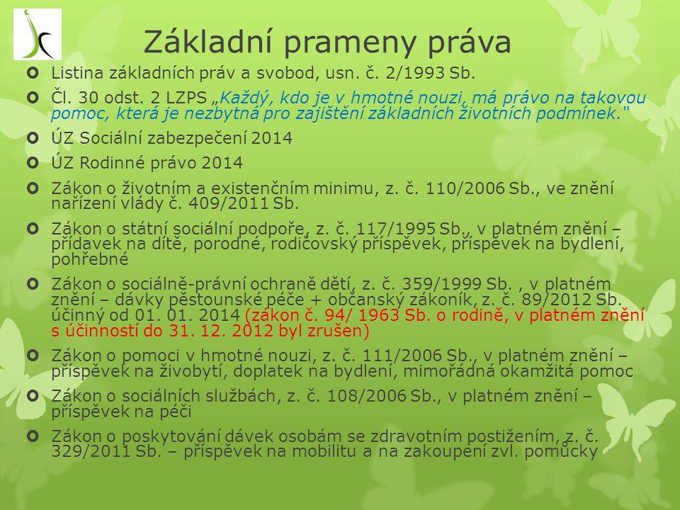 Rekodifikace soukromého rodinného práva v roce 2014  Občanský zákoník, z.