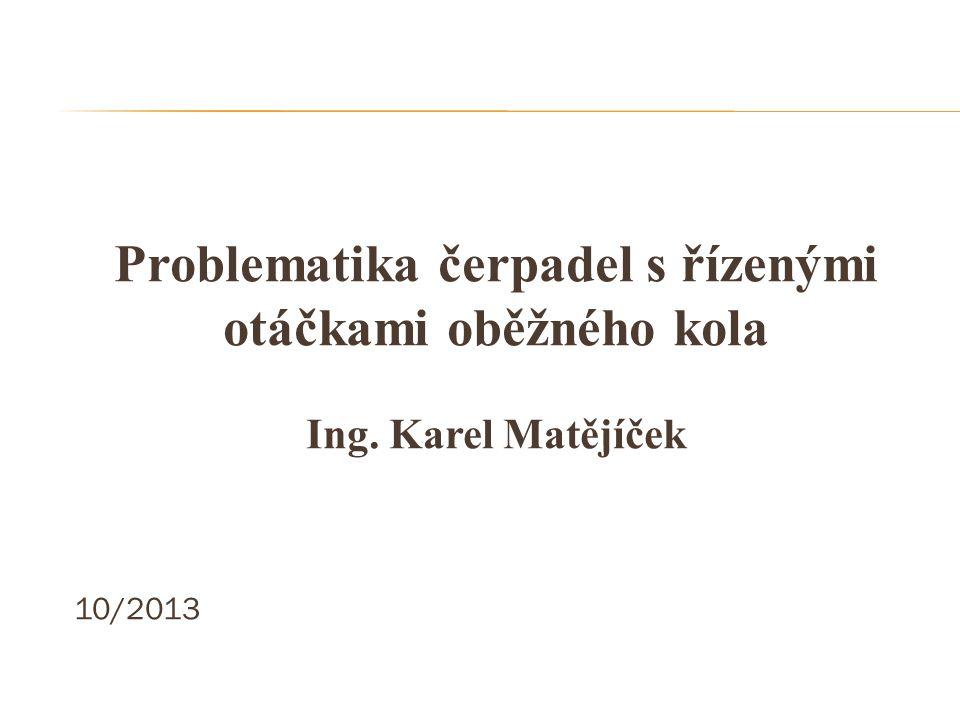 """Regulace otáček čerpadla na """"OTEVŘENÝ VENTIL www.ingmatejicek.cz"""