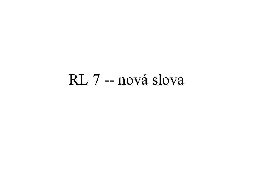 RL 7 -- nová slova