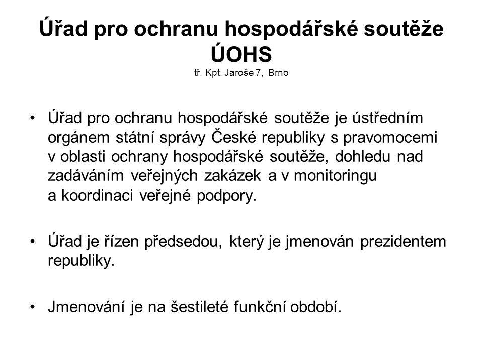 Úřad pro ochranu hospodářské soutěže ÚOHS tř.Kpt.