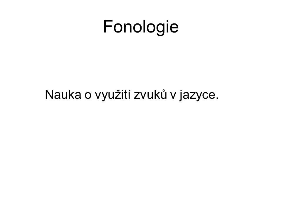 fonetika x fonologie Fonetika popisuje všechny zvuky, které při řeči vznikají Fonologie zkoumá jen zvukové prostředky, které mají komunikační funkci a mohou rozlišit význam slova, jde o fonémy