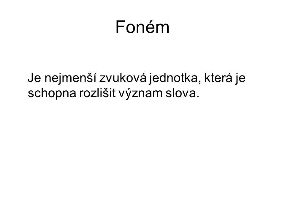 Ortofonie Nauka o správném tvoření a správném znění hlásek spisovné češtiny.