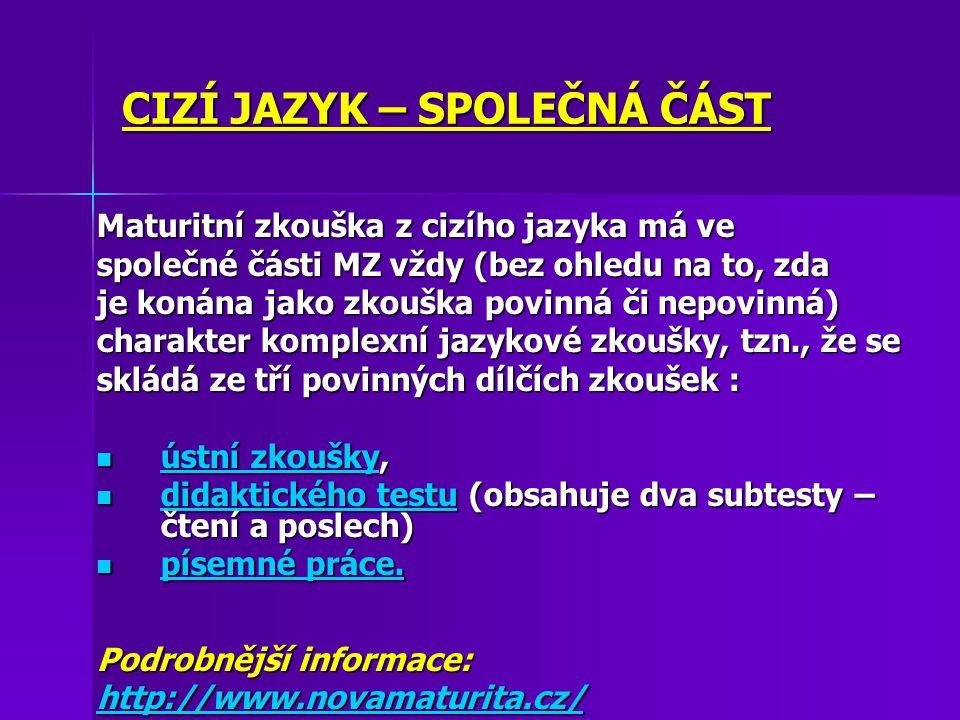 Maturitní zkouška na SPgŠ 2012 Obor: Sociální péče-pečovatelská činnost Profilová část – povinné zkoušky 1.