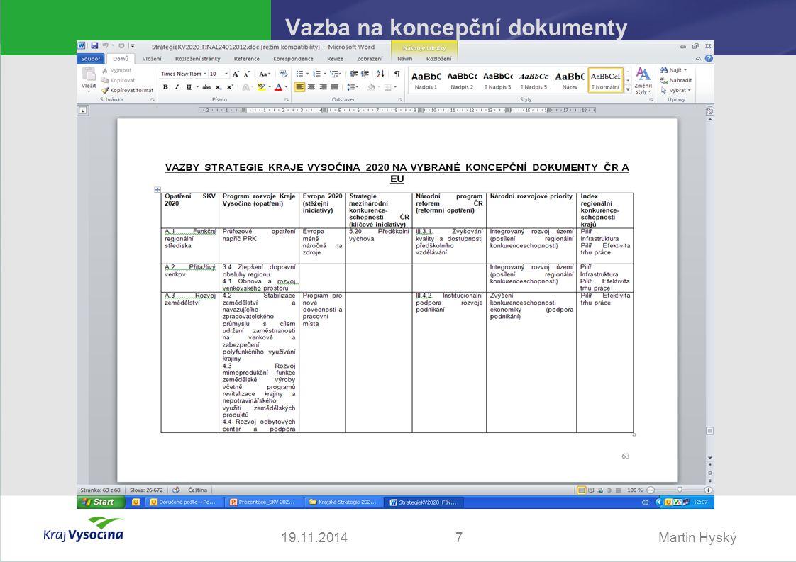 Martin Hyský Vazba na koncepční dokumenty 719.11.2014
