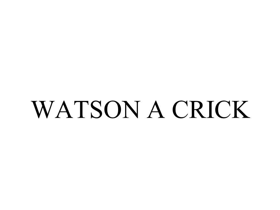 WATSON A CRICK