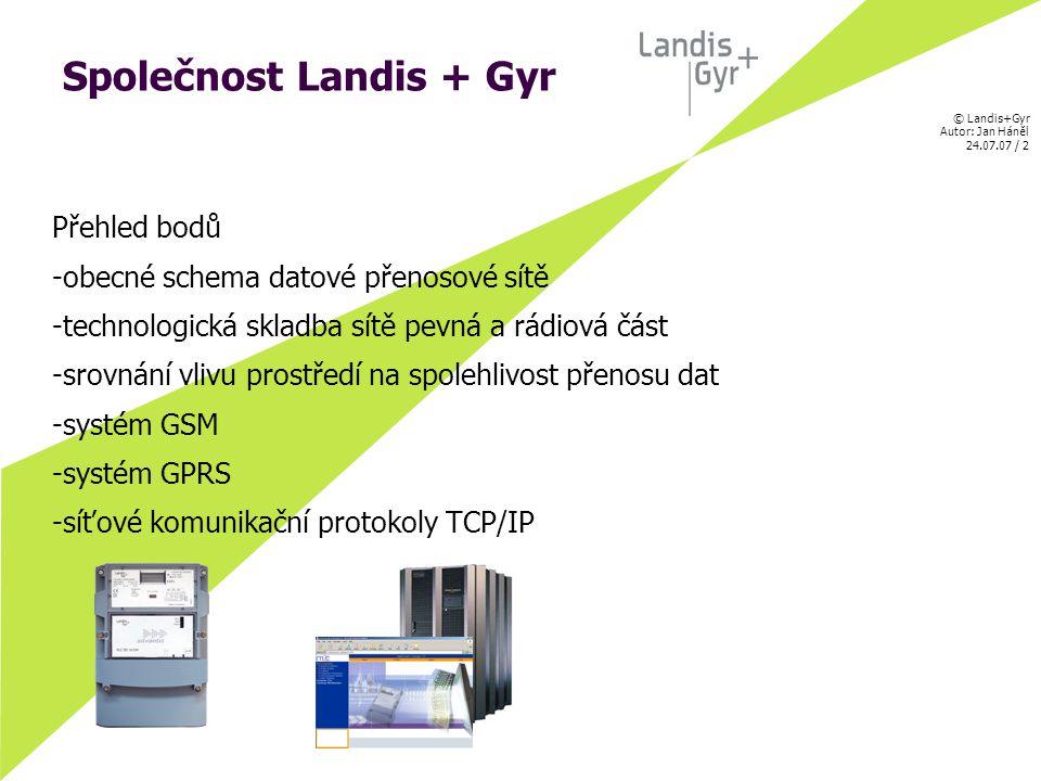 © Landis+Gyr Autor: Jan Háněl 24.07.07 / 13 Síťové komunikační protokoly OSI model radiové části