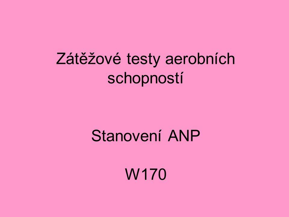 Zátěžové testy aerobních schopností Stanovení ANP W170