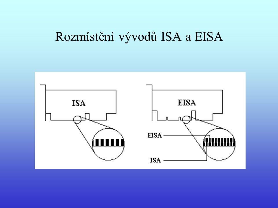 Rozmístění vývodů ISA a EISA