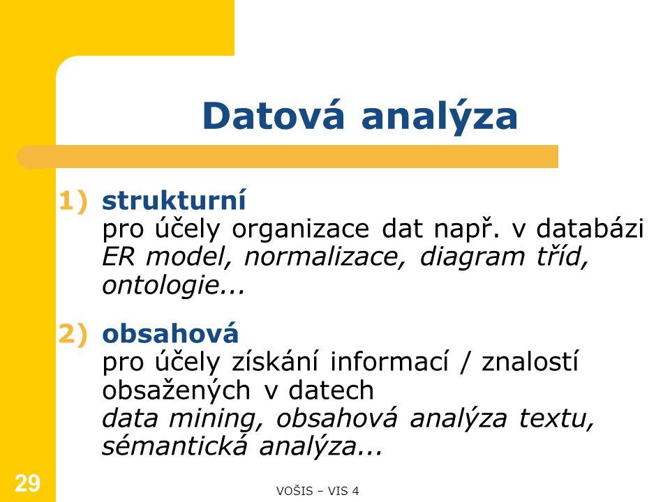 1)strukturní pro účely organizace dat např.