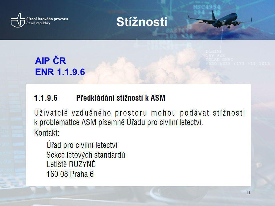Stížnosti AIP ČR ENR 1.1.9.6 11
