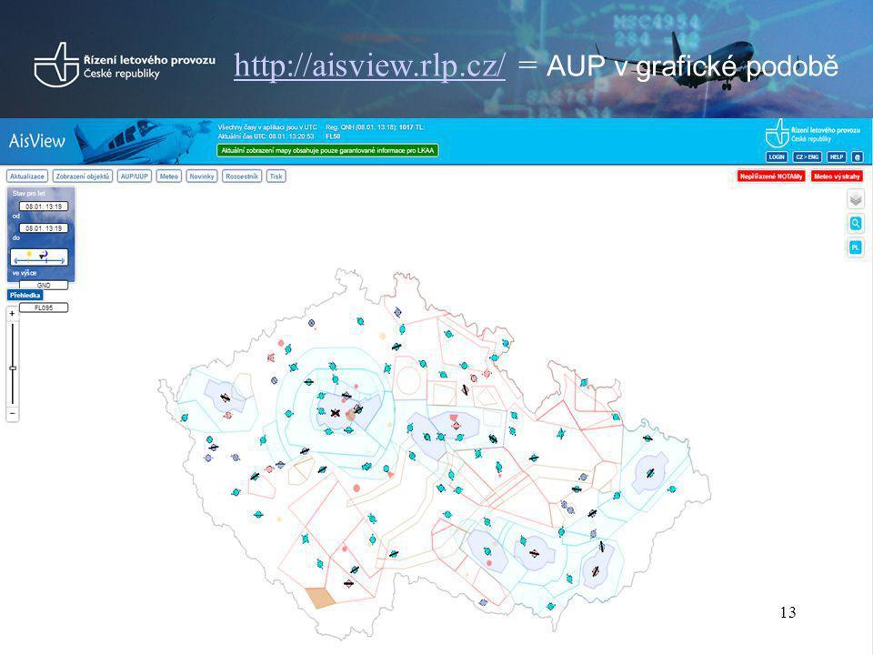 http://aisview.rlp.cz/http://aisview.rlp.cz/ = AUP v grafické podobě 13