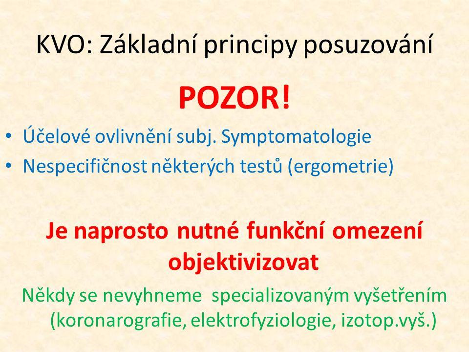 KVO: Základní principy posuzování POZOR. Účelové ovlivnění subj.
