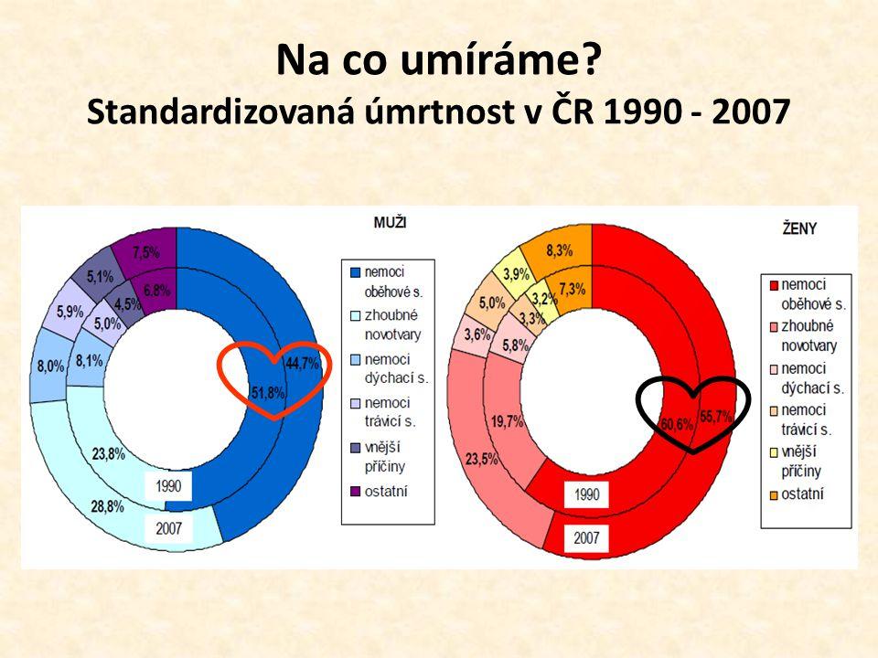 Na co umíráme Standardizovaná úmrtnost v ČR 1990 - 2007