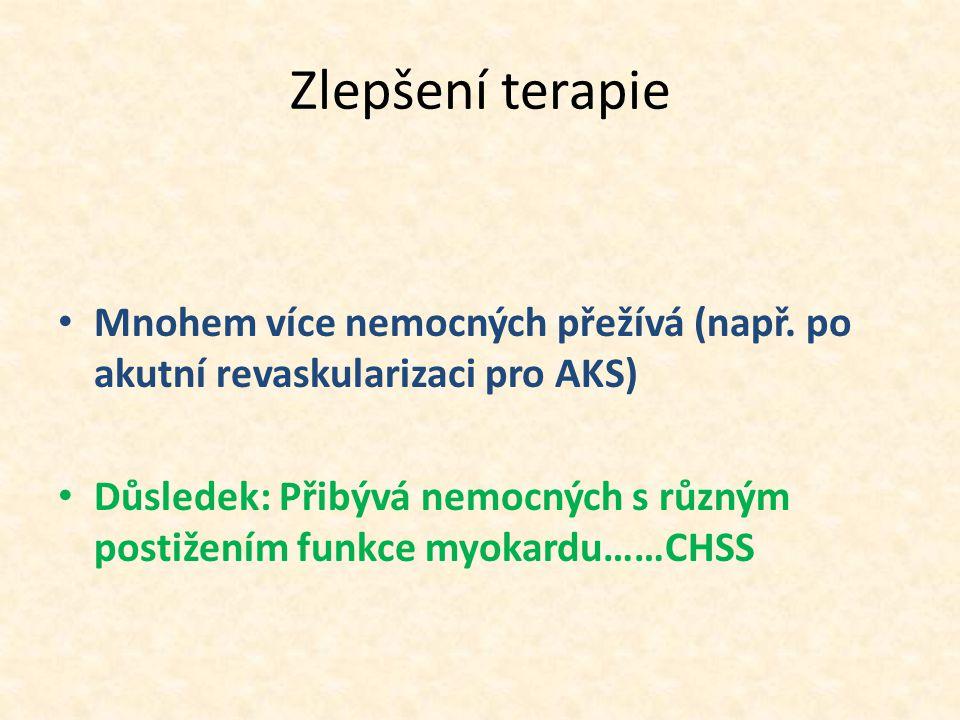 Zlepšení terapie Mnohem více nemocných přežívá (např.