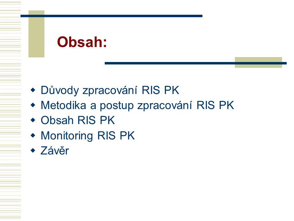 Naplňování a monitorování - monitoring a hodnocení RIS PK  Monitoring a hodnocení RIS PK spočívá ve zpracování monitorovací a hodnotící zprávy o naplňování aktivit RIS PK, a to na základě informací od zpravodajů (garantů) dané aktivity.