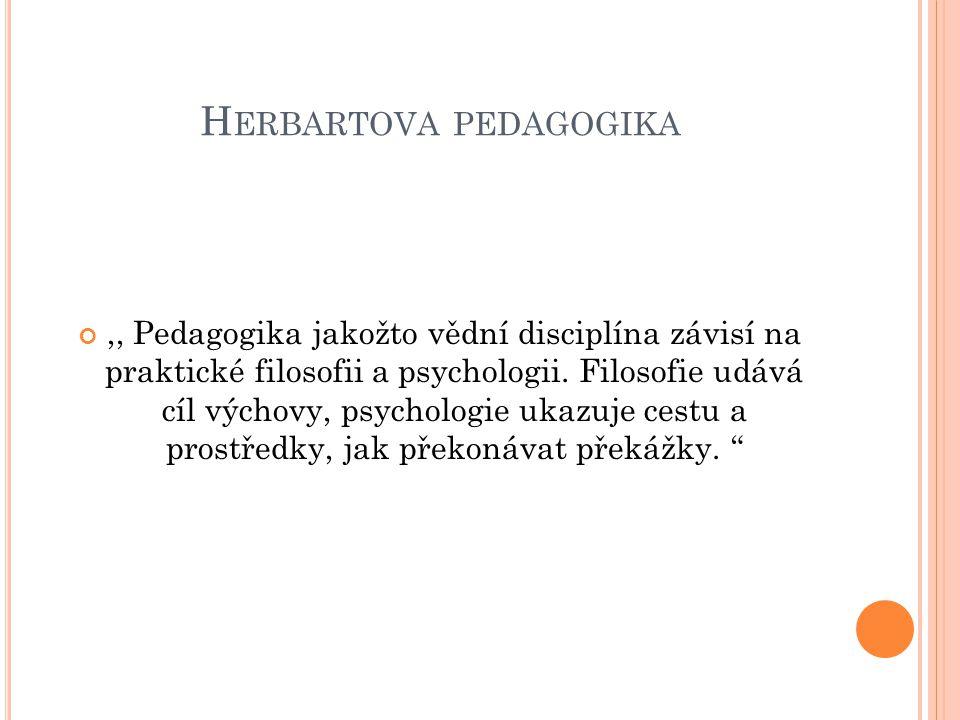 F ILOSOFICKÁ ČÁST -E TIKA Herbart se považoval za pokračovatele Kanta Stanovil 5 praktických kritérií, které regulují mravní život jednotlivce i celé společnosti Definoval je jako ideje
