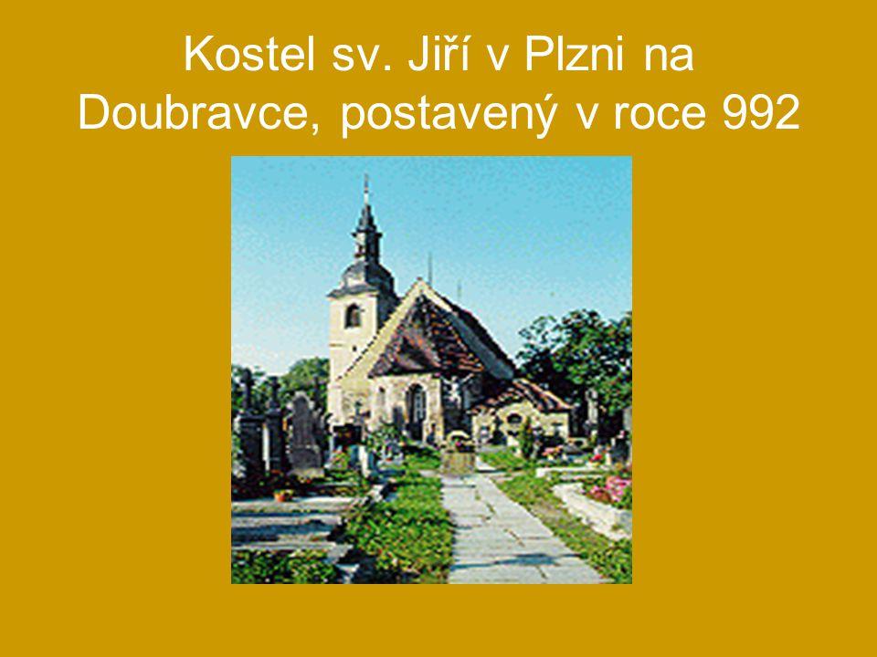 Kostel sv. Jiří v Plzni na Doubravce, postavený v roce 992
