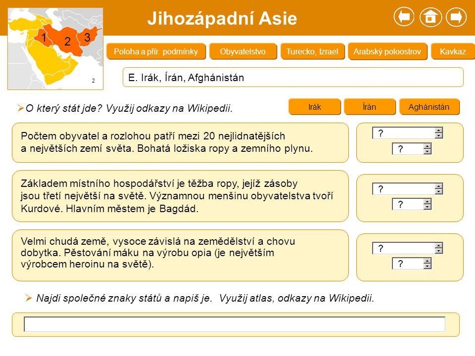 Zdroje: 1.Klímová, Eva.Školní atlas světa. Kartografie Praha, a.