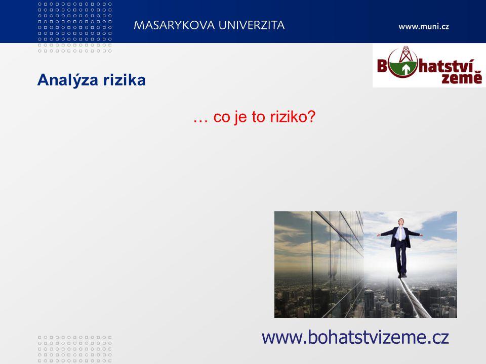 Analýza rizika … co je to riziko www.bohatstvizeme.cz