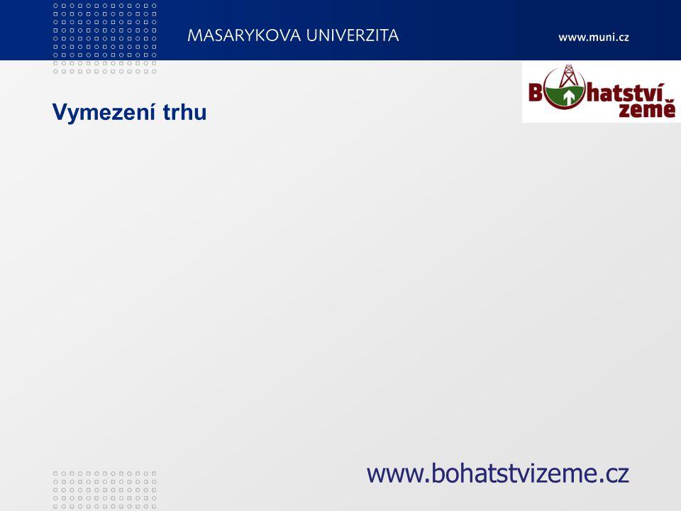 Vymezení trhu www.bohatstvizeme.cz