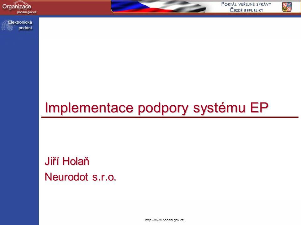 http://www.podani.gov.cz Implementace podpory systému EP Jiří Holaň Neurodot s.r.o.