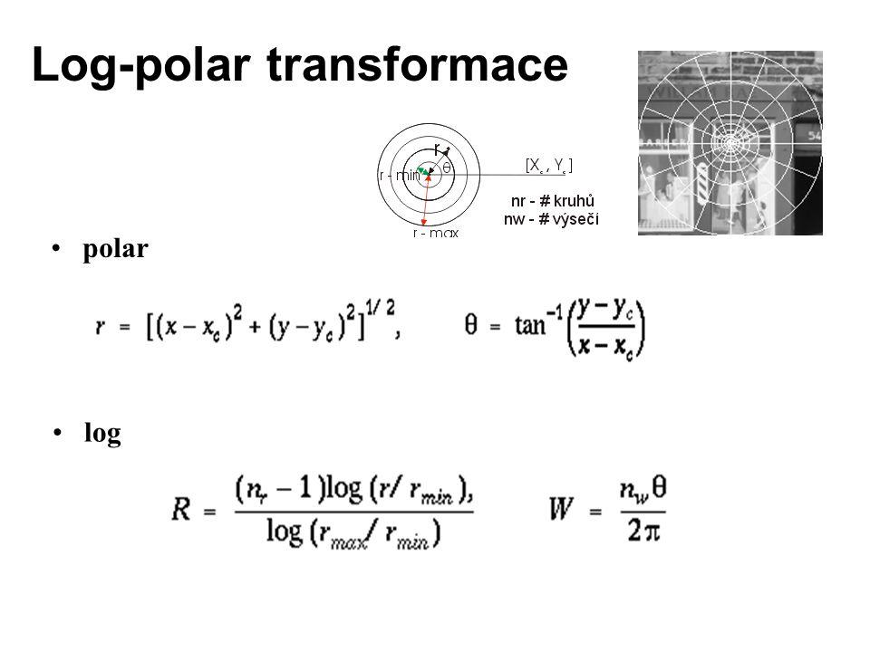 Log-polar transformace polar log