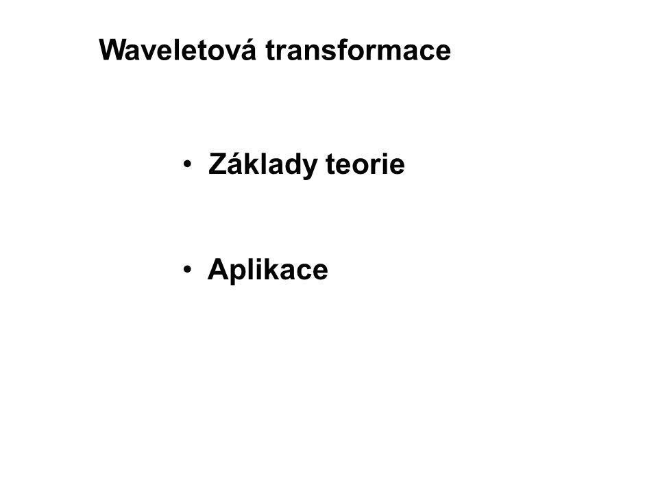 Waveletová transformace Základy teorie Aplikace