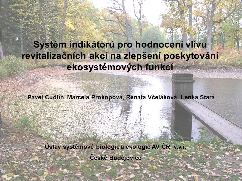 Cíl: zhodnotit tlak (vliv) člověka na kulturní krajinu, který je způsoben jejím využíváním a ohodnotit efektivitu revitalizačních opatření Krajina v České republice je z velké části antropogenně ovlivněná, což s sebou nese ztráty ekosystémových služeb.