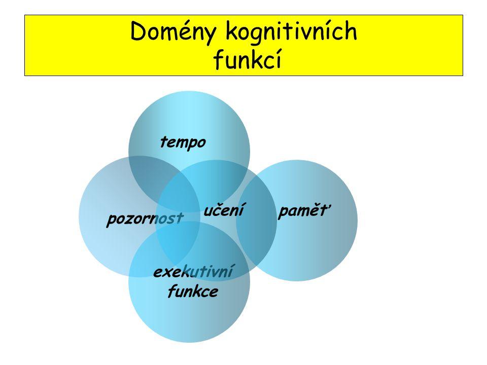 PMT - důležitá charakteristika, která může ovlivnit další domény kog. fcí Shrnutí