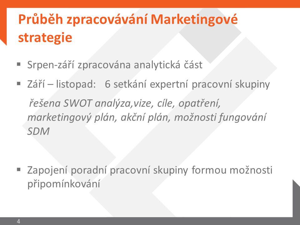 Hlavní výstupy Marketingové strategie Akční plán pro rok 2011 – navržené aktivity  Využití metodiky MSK a provádění sběru, analýz a evaluace dat (Marketingová šetření zaměřená na profil návštěvníka a turisty přijíždějícího do TO)  Aktualizace a dotisk stávajících prezentačních materiálů  Vzdělávací workshopy pro aktéry a subjekty působící v CR  Průvodce do mobilu 15
