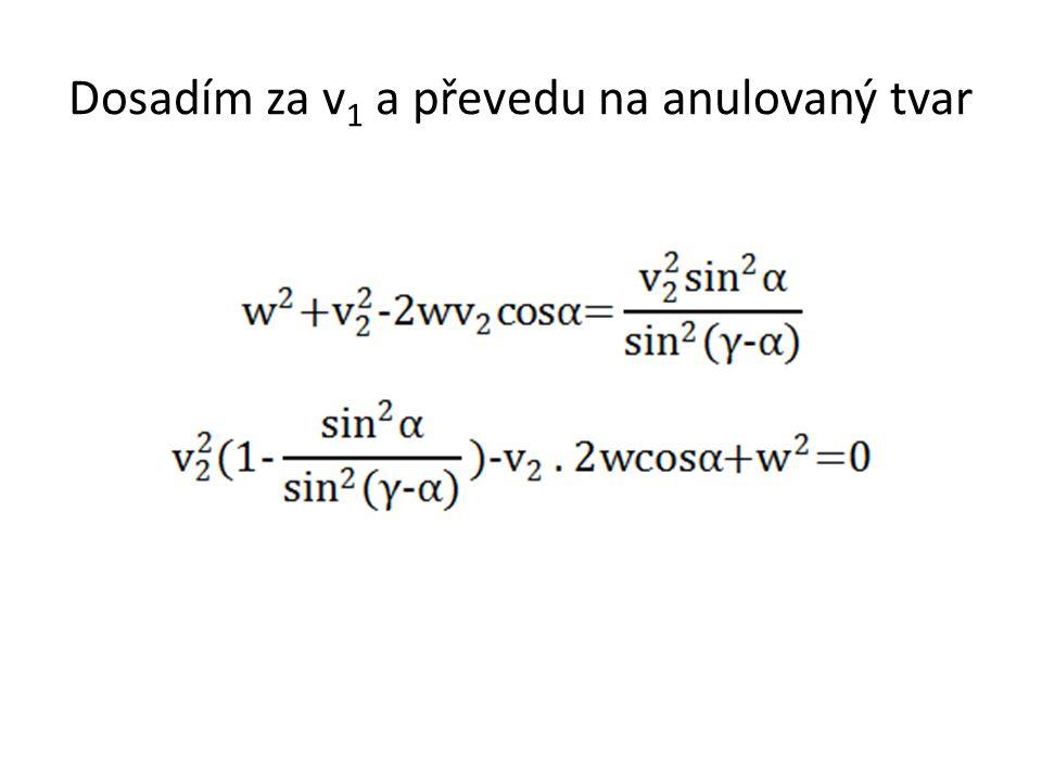 Obecně vyjádřím diskriminant kvadratické rovnice.