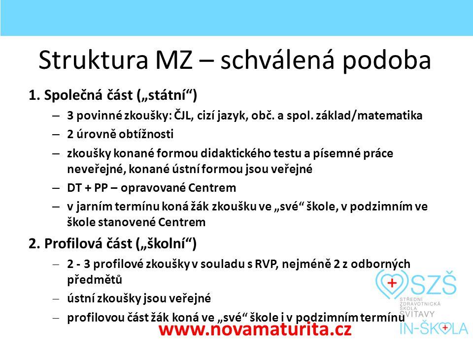 Struktura MZ – připravovaná změna 1.