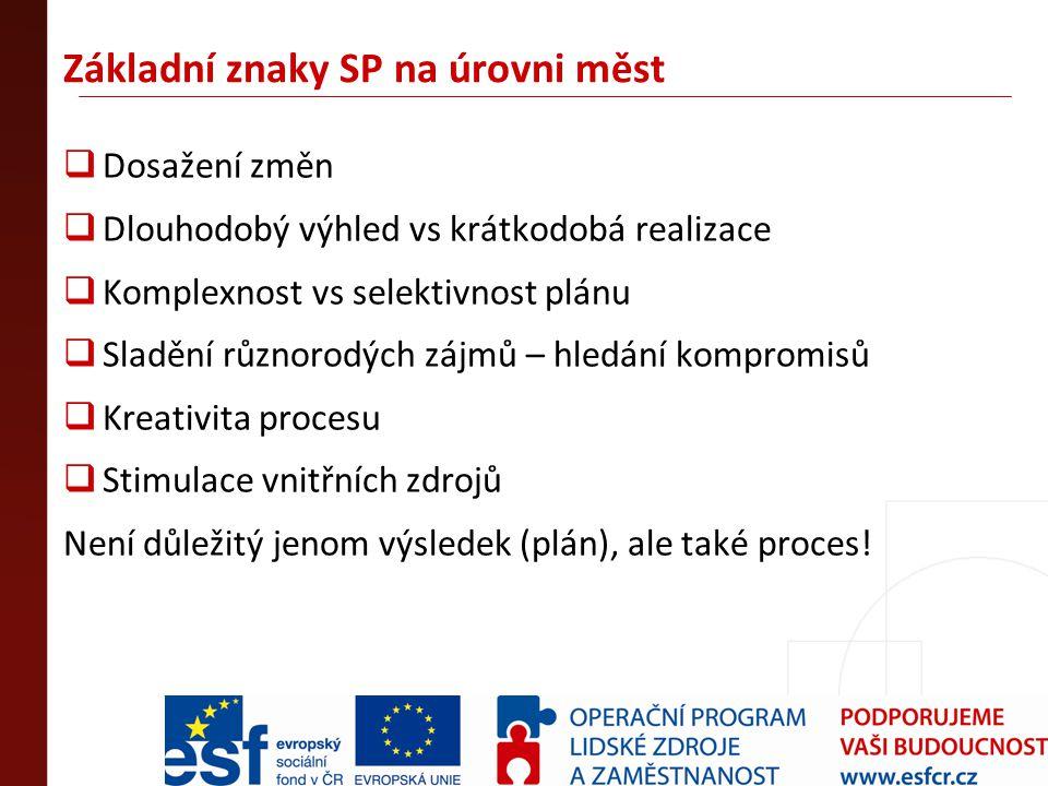 Přístup měst v ČR ke SP po r.
