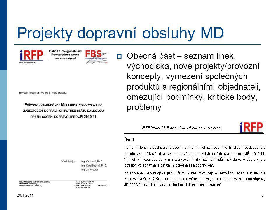 26.1.20119 Projekty dopravní obsluhy MD III.