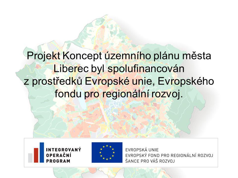 Projekt Koncept územního plánu města Liberec byl spolufinancován z prostředků Evropské unie, Evropského fondu pro regionální rozvoj.