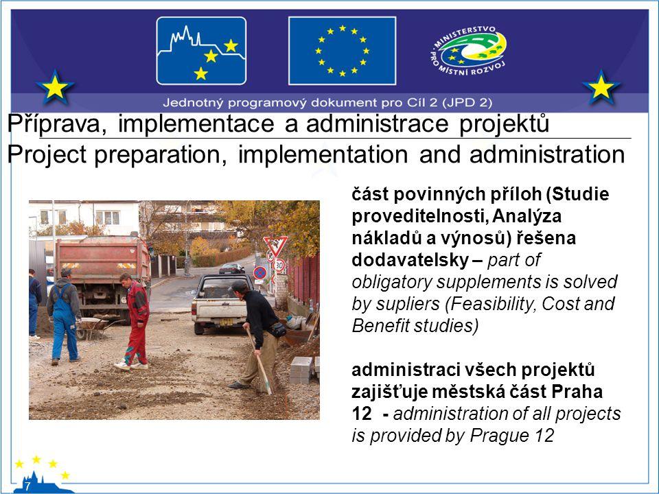 Příprava, implementace a administrace projektů Project preparation, implementation and administration 7 část povinných příloh (Studie proveditelnosti,