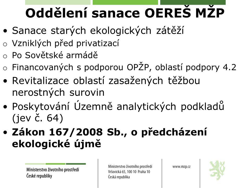 http://www.mzp.c z/cz/ekologicka_u jma Metodický pokyn OEREŠ MŽP pro provádění základního hodnocení rizika ekologické újmy