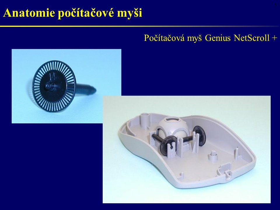 5 Počítačová myš Genius NetScroll + Anatomie počítačové myši