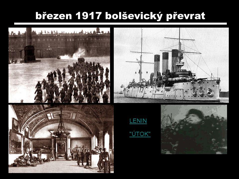 březen 1917 bolševický převrat LENIN