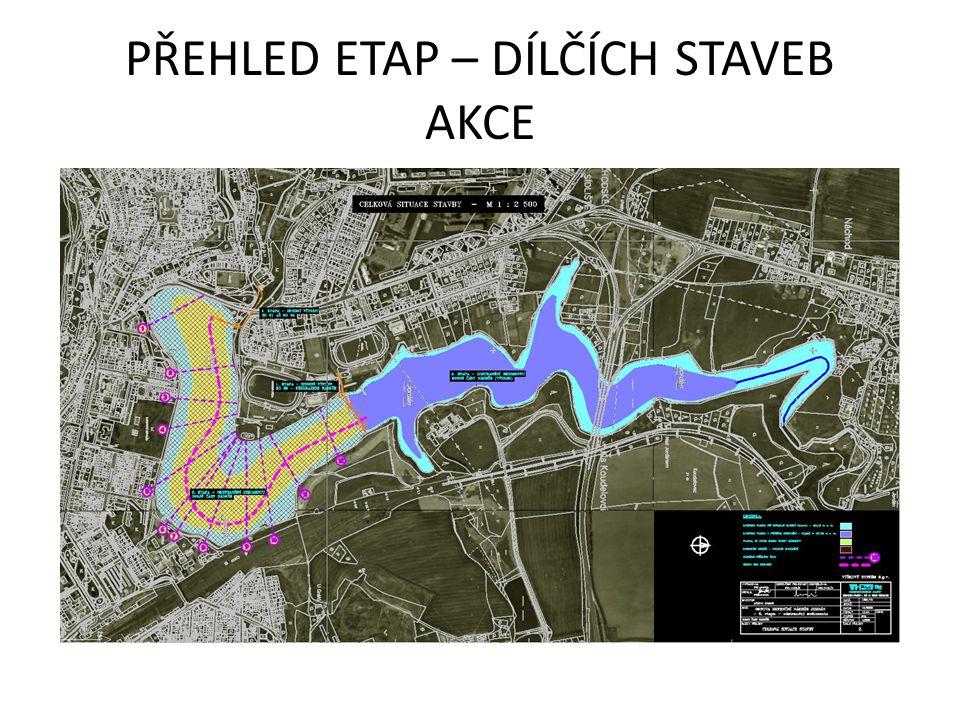 1.ETAPA SPODNÍ VÝPUST Situace celková délka podzemní trasy výpusti 208,2 m, z toho: přívodní tlaková štola 40,3 m vtokový objekt 4,0 m objekt uzávěrů 14,9 m beztlaková odpadní štola149,0 m