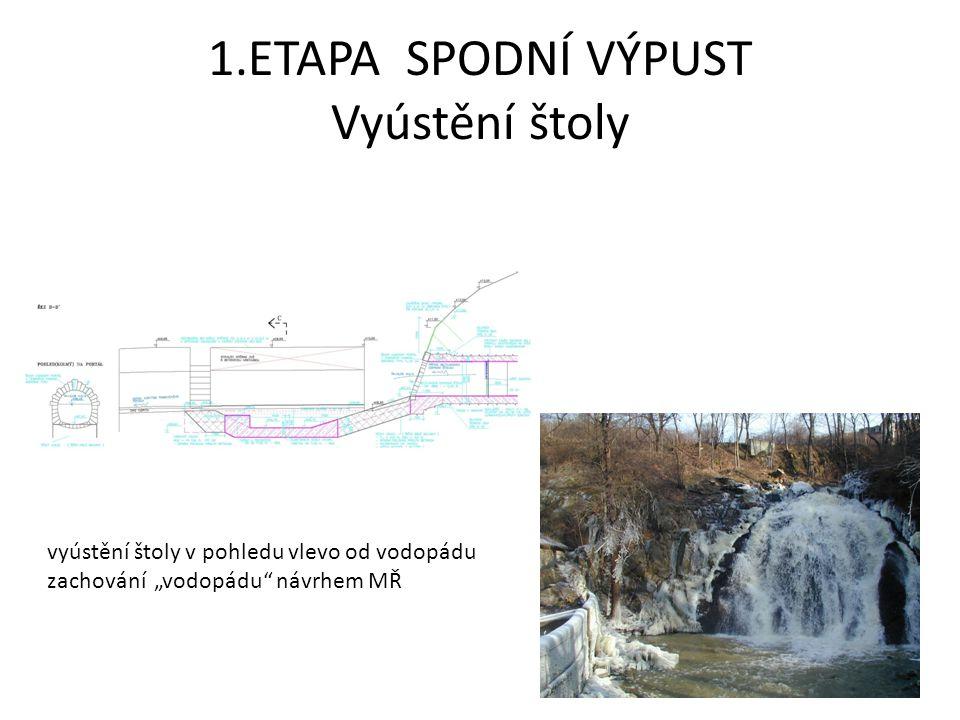 1.ETAPA SPODNÍ VÝPUST Jiná a zvláštní opatření při výstavbě přehrazení nádrže během výstavby provizorní přívod vody pro sádky během výstavby pyrotechnický průzkum dna nádrže hygienická sanace potenciálně problémových míst bezpečnostní zajištění vstupu výlov následně vypuštěné části nádrže slovení obsádky Tismenického potoka archeologický průzkum průběžné čištění místních komunikací protihluková opatření