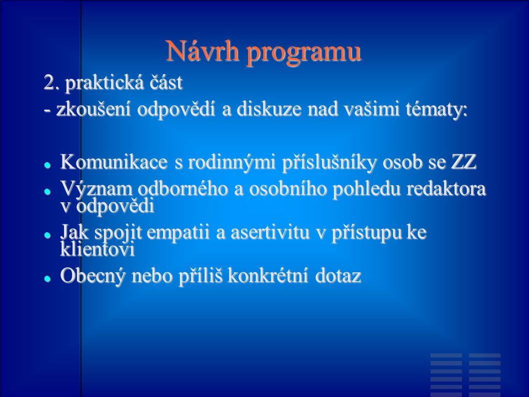 Návrh programu 2.