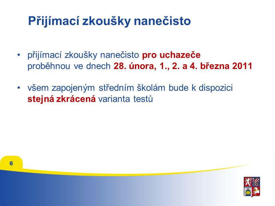 Přijímací zkoušky nanečisto přijímací zkoušky nanečisto pro uchazeče proběhnou ve dnech 28.