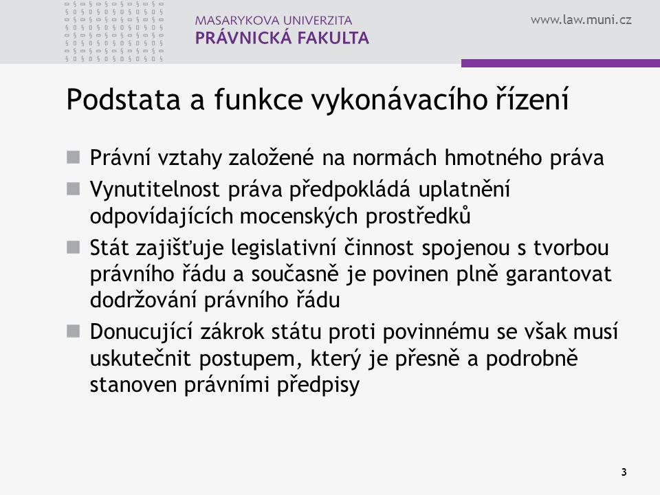 www.law.muni.cz 34 Pomoc soudu § 260 OSŘ Jde-li o vymáhání výživného pro nezletilé dítě, poskytne soud na žádost účastníka pomoc při zjišťování bydliště toho, komu z rozhodnutí vyplývá povinnost.