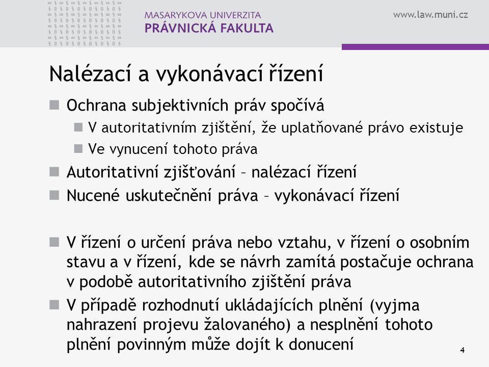 www.law.muni.cz 35 Prohlášení o majetku § 260a – 260h OSŘ Kdo má vykonatelným rozhodnutím přiznanou peněžitou pohledávku, může soudu před podáním návrhu na výkon rozhodnutí navrhnout, aby předvolal povinného a vyzval ho k prohlášení o majetku.